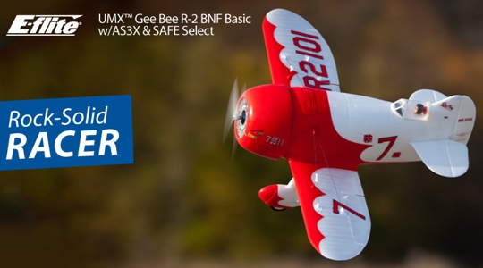 E-Flite UMX Gee Bee R-2 in BNF mit AS3X und SAFE select!