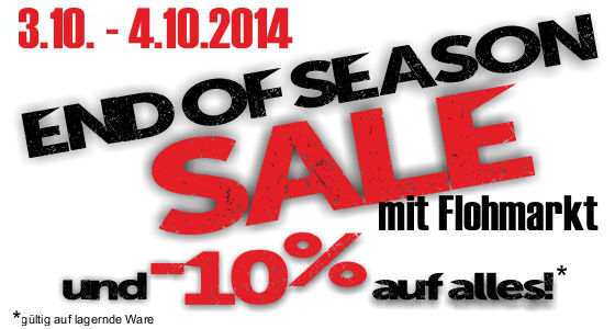 End of Season Sale mit Flohmarkt