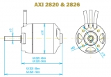 Brushless Motor AXI 2826/8 Gold Line